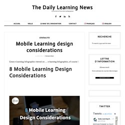 Mobile Learning design considerations