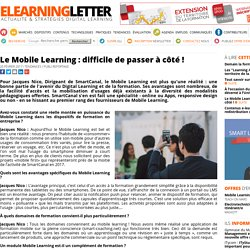Le Mobile Learning : difficile de passer à côté !