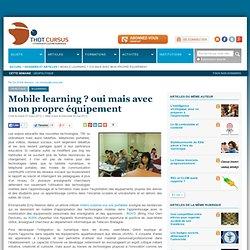 Mobile learning ? oui mais avec mon propre équipement