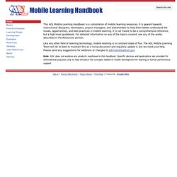 Mobile Learning Handbook