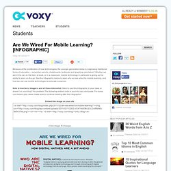 Are We Wired For Mobile Learning?