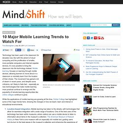 10 Major Mobile Learning Trends to Watch For