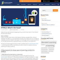 HTML5: What's the Buzz? – Mobile Learning Solutions
