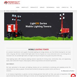 Mobile lighting towers for hire
