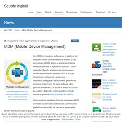 MDM (Mobile Device Management)