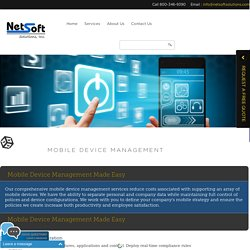 Mobile Device Management Services
