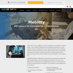 Mobile Manufacturing ERP Software