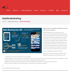 Mobile Marketing And Bulk SMS Marketing Company & Agency In Indore