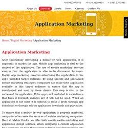 Best Mobile App Marketing Agency in India - Matrixbricks Infotech