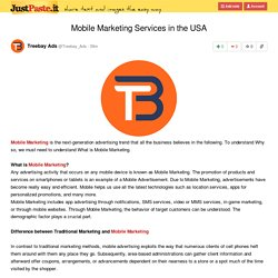 Mobile Marketing Services in the USA