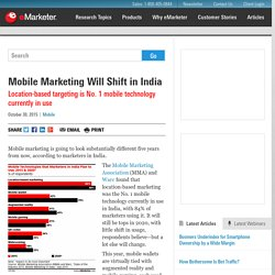 Mobile Marketing Will Shift in India
