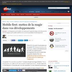 Mobile first: mettez de la magie dans vos développements