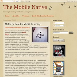 Making a Case for Mobile Learning