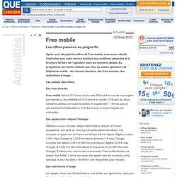 Free mobile Les offres passées au peigne fin