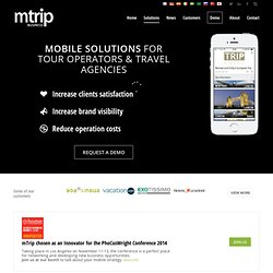 Mobile apps for Tour Operators & Travel Agencies - mTrip
