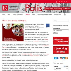 Polis – Mobile Opportunities for Children