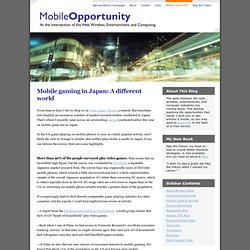 Mobile gaming in Japan: A different world
