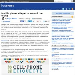Mobile phone etiquette around the world