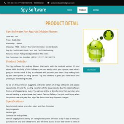 Spy Mobile Phone Software App for Android Phone in Delhi India