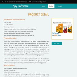 Spy Mobile Phone Software Shop in Delhi India