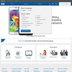 Bell Canada Mobile Cell Phones, Wireless Internet, Satellite TV, Home Phone- Bell