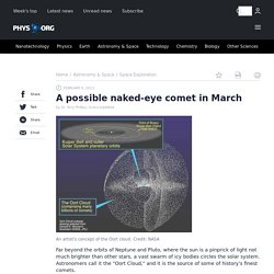 A possible naked-eye comet in March