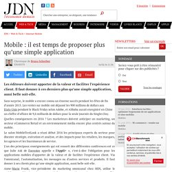 Mobile : il est temps de proposer plus qu'une simple application