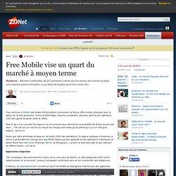 Free Mobile vise un quart du marché à moyen terme