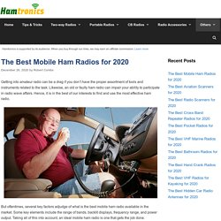 12 Best Mobile Ham Radios Reviewed and Rated in 2020
