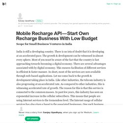 Mobile Recharge API — Start Own Recharge Business With Low Budget