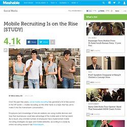 Mobile Recruiting Is on the Rise