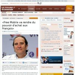Conjoncture : «Free Mobile va rendre du pouvoir d'achat aux Français»