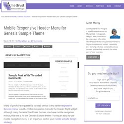 Mobile Responsive Header Menu for Genesis Sample Theme