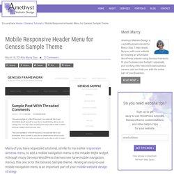 Mobile Responsive Header Menu for Genesis Sample Theme