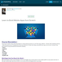 Learn to Build Mobile Apps from Scratch: vernonemrit