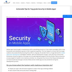 Best Mobile App Security Practices for modern apps!