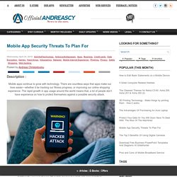 Mobile App Security Threats To Plan For