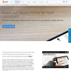 Mobile Guest Self Service Portal gives extra powers to your hotel PMS