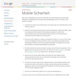 Mobile Sicherheit – Gut zu wissen – Google