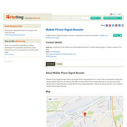 Mobile Phone Signal Booster, Surrey London - Mobile Phone Signal Boosters