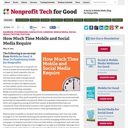 How Much Time Mobile and Social Media Require