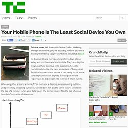 Your Mobile Phone Is The Least Social Device You Own