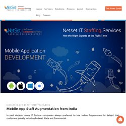 Mobile App Staff Augmentation from India