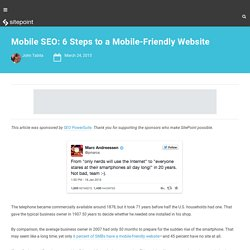 Mobile SEO: 6 Steps to a Mobile-Friendly Website