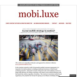 is your mobile strategy in motion? « mobi.luxe