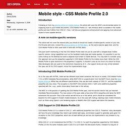Mobile CSS stylng
