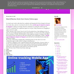 Mobile app technology blogs: Most Effective Work from Home Online apps