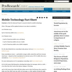 Mobile Technology Fact Sheet
