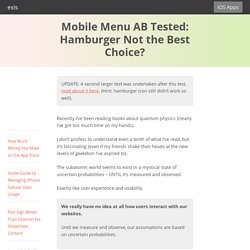 Mobile Menu AB Tested: Hamburger Not the Best Choice?