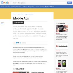 AdMob - Learn More About Advertising With Us